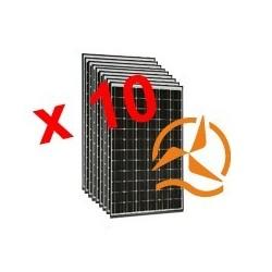 Lot de 10 panneaux solaires monocristallins 210Wc 24V