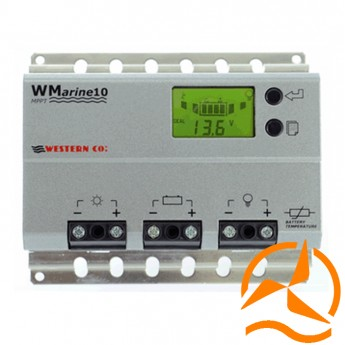 Régulateur de charge MPPT marine 10A Ampères 12-24 Volts avec afficheur LCD et détecteur crépusculaire (Fabrication Européenne)