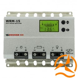 Régulateur de charge MPPT 15 Ampères 12-24 Volts avec afficheur LCD et détecteur crépusculaire (Fabrication Européenne)