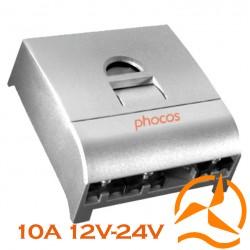 Régulateur Phocos 10 Ampères 12-24 Volts programmable et fonction crépusculaire CX10