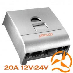 Régulateur Phocos 20 Ampères 12-24 Volts programmable et fonction crépusculaire CX20