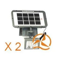 Lot de 2 Projecteurs extérieurs solaires haute puissance