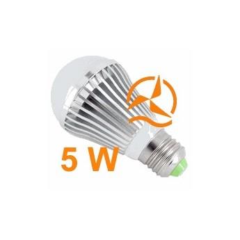 Nouvelle ampoule LED 5W 12V E27 dissipateur thermique aluminium ultra économique blanc