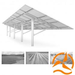 Support de fixation pour panneaux solaires au sol - Systèmes Plein Champ