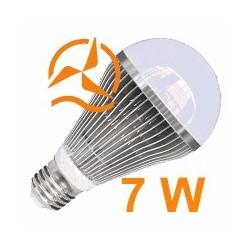 Nouvelle ampoule LED 7W 12V E27 dissipateur thermique aluminium ultra économique blanc