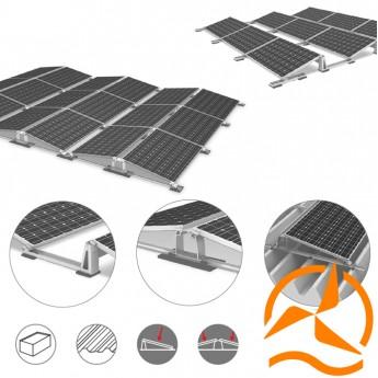 Support de fixation Systèmes de montage pour installations solaires photovoltaïques sur toiture terrasses plates