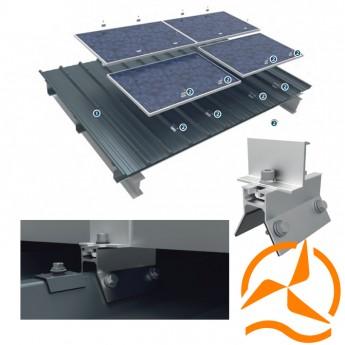 Systeme de fixation pour panneaux solaires sur profilé PML 45.333.1000 - Systèmes Pour Toitures Tôles ondulées
