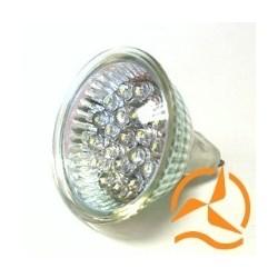 Ampoule spot 21 LEDs 12 Volts culot G5.3 éclairage blanc