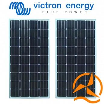 Lot de 2 panneaux solaires monocristallins haut rendement 100 Watts 12 Volts Victron Energy