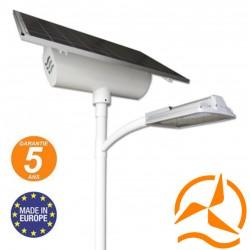 Lampadaire solaire GLOBE XL 7m design et robuste fabrication Européenne