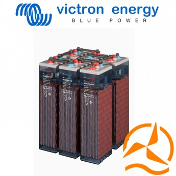 Lot de 6 batteries ouvertes OPzS 2 Volts 1830 Ah très longue durée de vie - spéciales applications solaires
