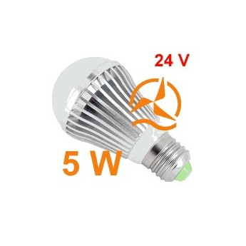 Nouvelle ampoule LED 5W 24V E27 dissipateur thermique aluminium ultra économique blanc