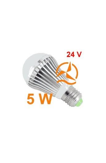 ampoule led 5w 24v e27 dissipateur thermique aluminium ultra blanc. Black Bedroom Furniture Sets. Home Design Ideas