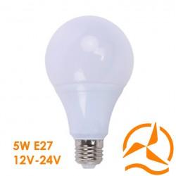 Ampoule LED 5W 12V-24V Blanc Chaud Culot E27