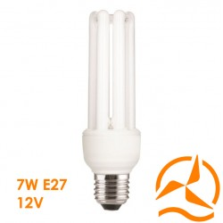 Ampoule fluocompacte 12 Volts 7 Watts culot E27