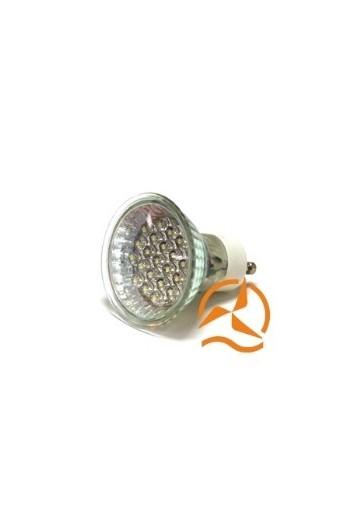 ampoule spot 21 leds 220 volts culot gu10 clairage blanc. Black Bedroom Furniture Sets. Home Design Ideas