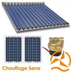 Kit chauffage solaire 12 Volts pour serre de 20 à 30 m²