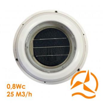 Ventilateur aérateur solaire débit 25 m3/h