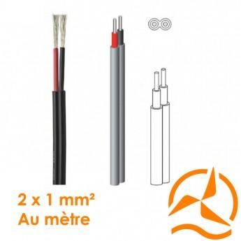 Câble électrique souple 2 x 1 mm² vendu au mètre