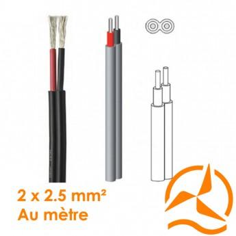 Câble électrique souple 2 x 2,5 mm² vendu au mètre