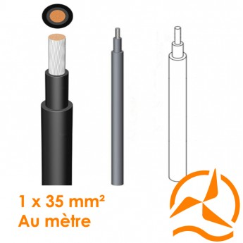 Câble électrique souple 1 x 35 mm² vendu au mètre