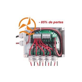 Boîte de jonction panneaux photovoltaïques circuit électronique haut rendement