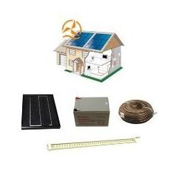 Kit solaire complet éclairage ampoule LEDs 12 Volts 5 Watts