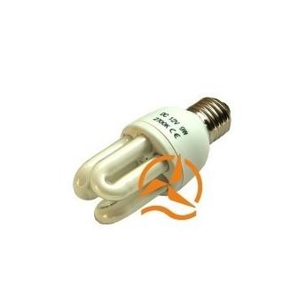Ampoule fluocompacte 12 Volts 9 Watts culot E27