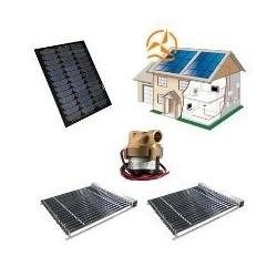 Kit 12 Volts complet capteur solaire à tubes sous vide avec circulateur et panneau solaire