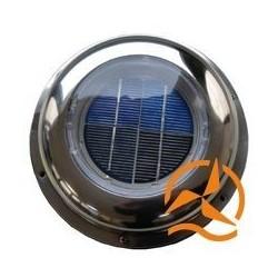 Ventilateur aérateur solaire acier inoxydable mode nuit avec batterie débit 25 m3/h