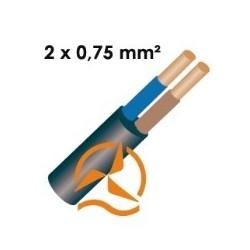 Câble électrique souple 2 x 0,75 mm² vendu au mètre