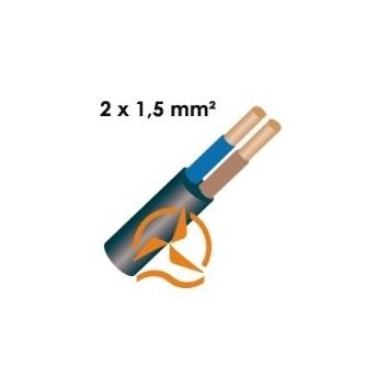 Câble électrique souple 2 x 1,5 mm² vendu au mètre
