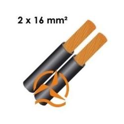 Câble électrique souple 2 x 16 mm² vendu au mètre
