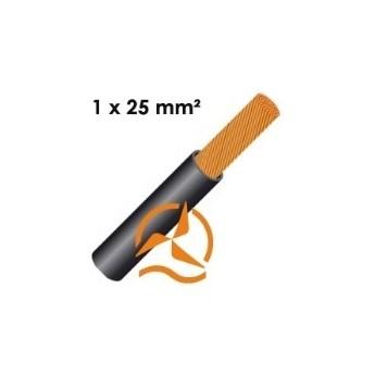 Câble électrique souple 1 x 25 mm² vendu au mètre
