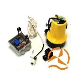 Kit vide cave ou vide cale solaire complet 70 L/min avec flotteur et panneau solaire 10W