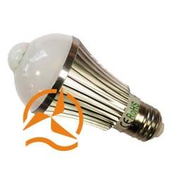 Ampoule spot à LEDs Révolutionnaire intégrant un détecteur de présence 220 Volts culot E27 éclairage blanc
