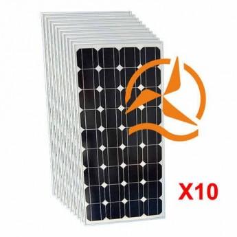 Lot de 10 panneaux solaires monocristallin 100Wc 12V