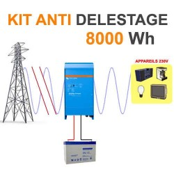Kit back-up 8000Wh - Contre délestage et coupures intempestives