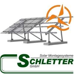 Support de fixation pour panneaux solaires au sol Schletter