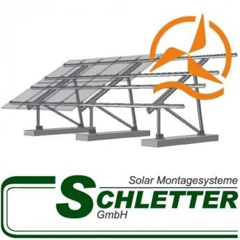Support de fixation pour panneaux solaires au sol ou toiture plate Schletter