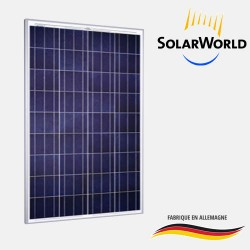 Panneau solaire polycristallin 250Wc 24V Bi-Verre SolarWorld