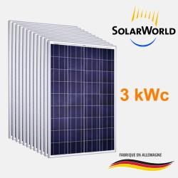Lot de 12 panneaux solaires polycristallin 250Wc 24V SolarWorld