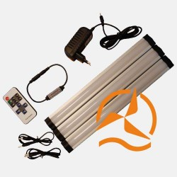 Système télécommandé éclairage blanc chaud - LED 3 rampes 30cm