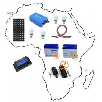 Kit solaire complet Afrique 735 Wh à 1050 Wh Moyenne Puissance