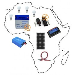 Kit solaire complet Afrique 350 Wh à 500 Wh Petite Puissance