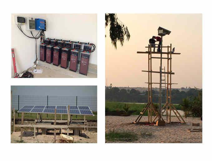 Lampadaire solaire et site isolé au Congo