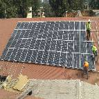 Energiedouce installation toit solaire congo 1
