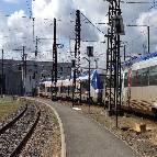 Lampadaires solaires installés dans une gare SNCF à Toulouse 2