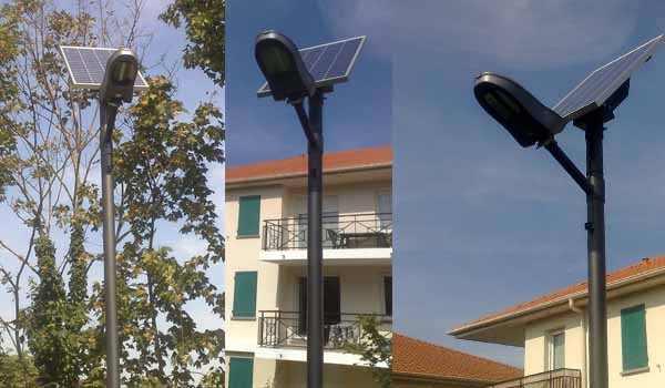 Les candélabres solaires photovoltaïques installés