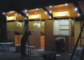 Montage et contrôle électrique des kiosques